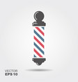 classic barbershop pole isolated on a white vector image vector image