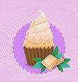 colorful muffin cake sweet beautiful cupcake vector image vector image