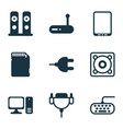 computer icons set with personal computer vector image vector image