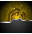 Concept tech background with metal stripe vector image vector image