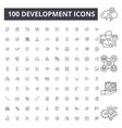 development line icons signs set outline vector image vector image
