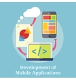Development of Mobile Applications vector image vector image
