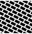 Diagonal Bricks Black White Seamless Pattern vector image