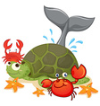 different type sea animals vector image vector image