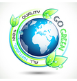 Ecology Green conceptual background vector image