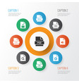 file icons set with programming language psd iso vector image vector image