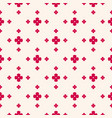 floral minimalist seamless pattern red and beige vector image
