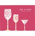 folk floral circles abstract three wine glasses vector image vector image