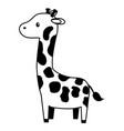 giraffe toy on white background vector image