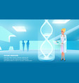 girl doctor holds hand medical card vector image vector image