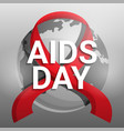 global aids day concept background cartoon style vector image vector image