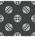 Globe pattern vector image vector image