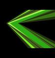 green arrow speed direction on black vector image vector image