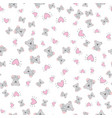 hand drawn cute koala pattern print design vector image vector image