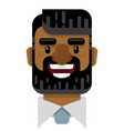 happy bearded business man flat icon vector image vector image