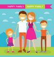 happy family of four members parentstheir son and vector image