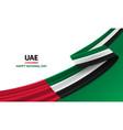 happy united arab emirates national day vector image