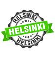helsinki round ribbon seal vector image vector image