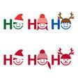 Ho ho ho Christmas card vector image vector image