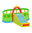 inflatable slides icon kid activity for jumping vector image vector image