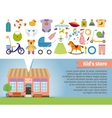 kids shop children clothing and toys vector image