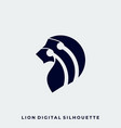 lion head silhouette art style template vector image