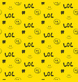 lol pattern seamless yellow social media vector image