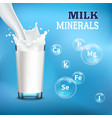 milk realistic advertising vector image vector image