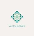 Mosaic rhomb emblem