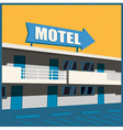 motel old poster vector image vector image