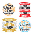 motivation quote and saying set vector image vector image