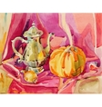 original handmade watercolor painting still life vector image vector image