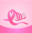 pink ribbons breast cancer awareness banner vector image