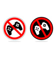 Play ban Sign prohibiting computer games With the vector image vector image
