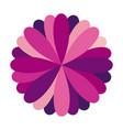 purple circular frame formed by petals vector image vector image