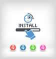quick install vector image