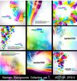 rainbow backgrounds collection vector image vector image