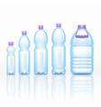 Realistic plastic drink bottles mockups isolated vector image vector image