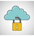 security data concept cloud information icon vector image vector image