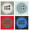 set of myspace social network icon vector image vector image
