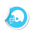 Sticker with american football icon vector image vector image