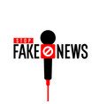 stop fake news minimalistic poster for your vector image