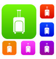 travel suitcase set collection vector image vector image