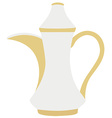 Turkish coffeepot vector image vector image