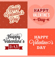 typographic happy valentines day vector image vector image