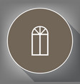 window simple sign white icon on brown vector image vector image