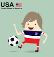 united states of america national football team vector image