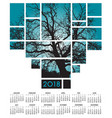 a 2018 tree and nature calendar vector image