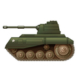 A green military tank vector image
