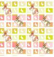 A seamless design with bunnies vector image vector image